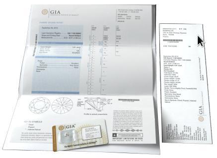 un certificat GIA