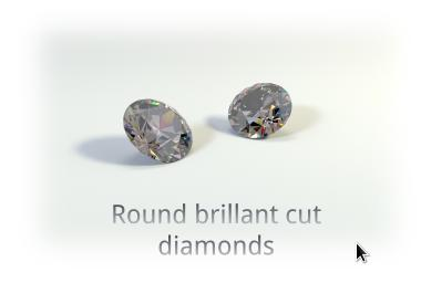 round brillant cut diamonds image