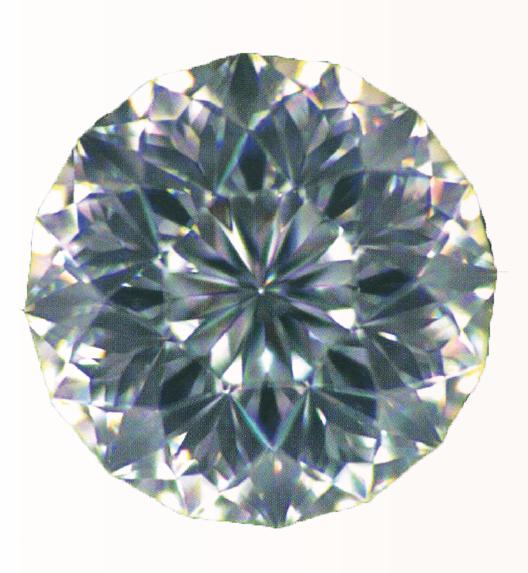 diamant avec coupe en forme de lotus